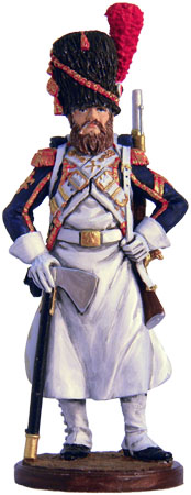 Sapper Foot grenadiers of the Imperial Guard. France, 1808-12. 54mm.