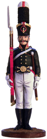 NCO in the Grenadier Battalion of the musketeer regiment. Russia, 1805-07. 54mm.
