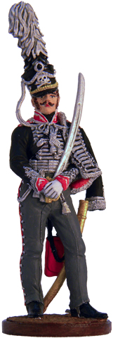 Officer 2nd Life Hussars Regiment. Prussia, 1809-15. 54mm.