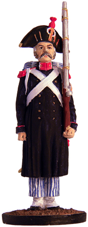 Grenadier of the Imperial Guard in the field uniform. France, 1807. 54 mm.