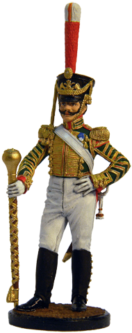 Drum-major of the Lifeguards Izmaylovsky regiment. Russia, 1814-15; 54 mm
