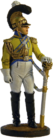 "Officer of the regiment ""Garde du Corps"". Saxony, 1810-13; 54 mm"