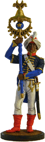 Horsetail bearer Musician of the the regimental band. France, 1804-12; 54 mm