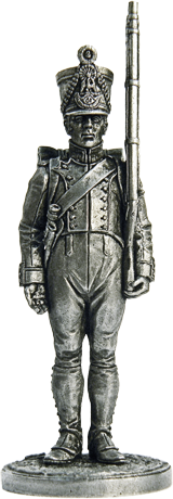 Fusilier 61st Line Regiment. France, 1812-14; 54 mm