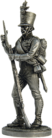 Fusilier 4th Infantry Regiment Hoch und Doychmayster. Austria, 1809-14; 54 mm