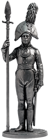 Ober-officer of the Orel Musketeer regiment. Russia, 1804-06; 54 mm