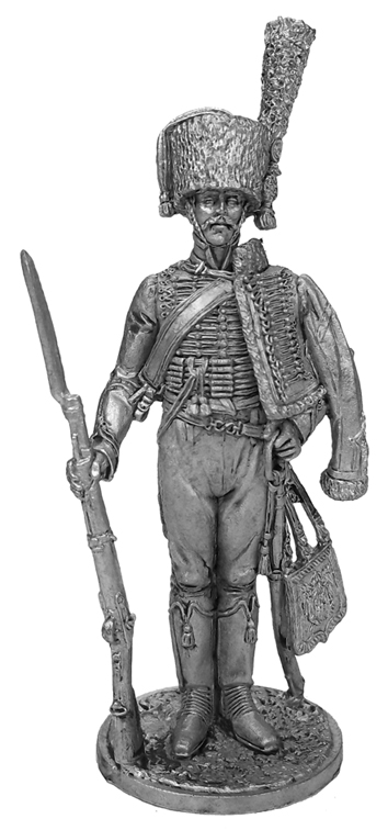 Private Regiment of the Horse Chasseurs of the Imperial Guard. France, 1804-15; 54 mm