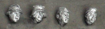 Set of four heads (3); 28 mm