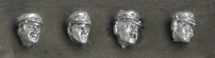 "Set of four heads in cap ""maciejówka""; 28 mm"