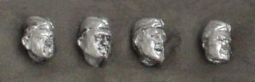 Set of four heads in side cap; 28 mm