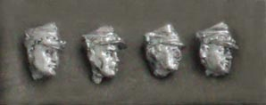 Set of four heads in rogatywka; 28 mm