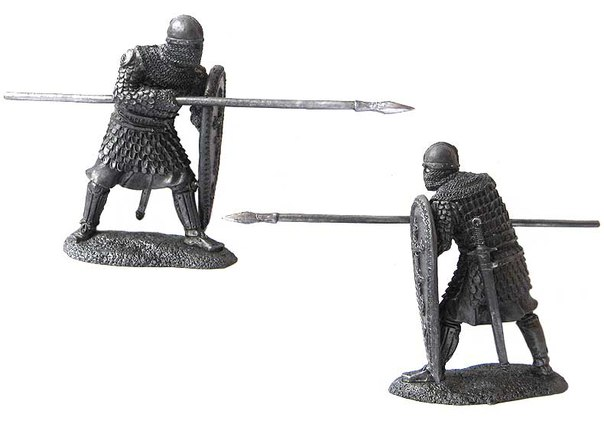 Russian heavily armed foot warrior, 13th century; 54 mm
