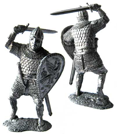 Noble warriors Vladimir and Suzdal principality, Russia, 13th century; 54 mm