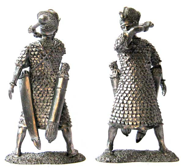 Pharaoh in battle armor, 2-1 millennium BC; 54 mm