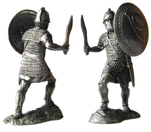 Heavy armored infantryman of the sacred detachment of Carthage, 3-2 centuries BC; 54 mm