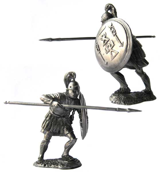 Carthaginian heavily armed infantryman, 3-2 centuries BC; 54 mm