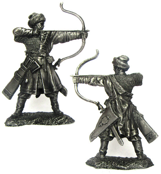 Russian archer, XIV century; 54 mm