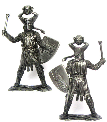 German knight, 12-13 centuries; 54 mm