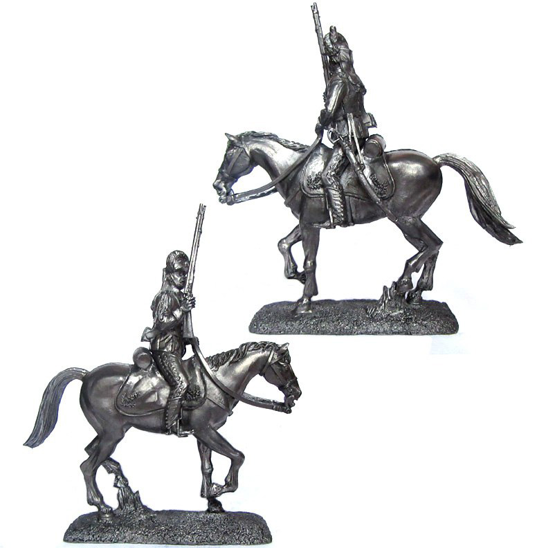 Private light cavalry regiments, Russia, 1780-90; 54 mm