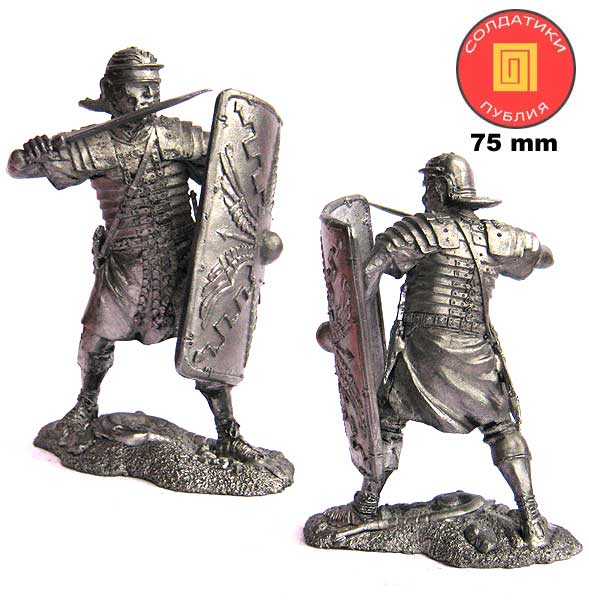 Roman warrior XXIV Legion, 1-2 centuries AD, 75 mm