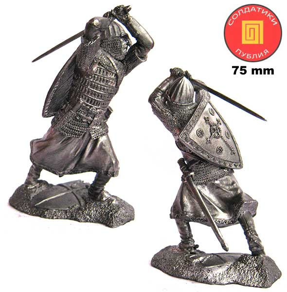 Russian noble warrior, 13th century; 75 mm