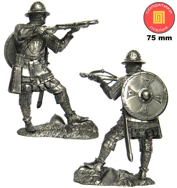 Teutonic crossbowman, 13th century; 75 mm
