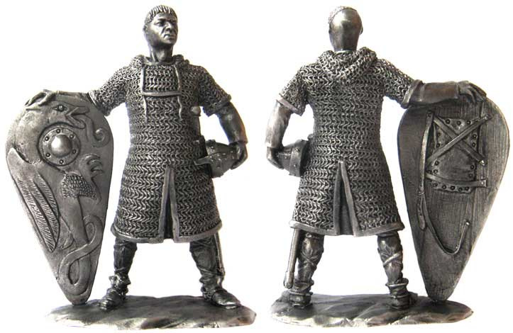 Norman knight, XI century; 54 mm