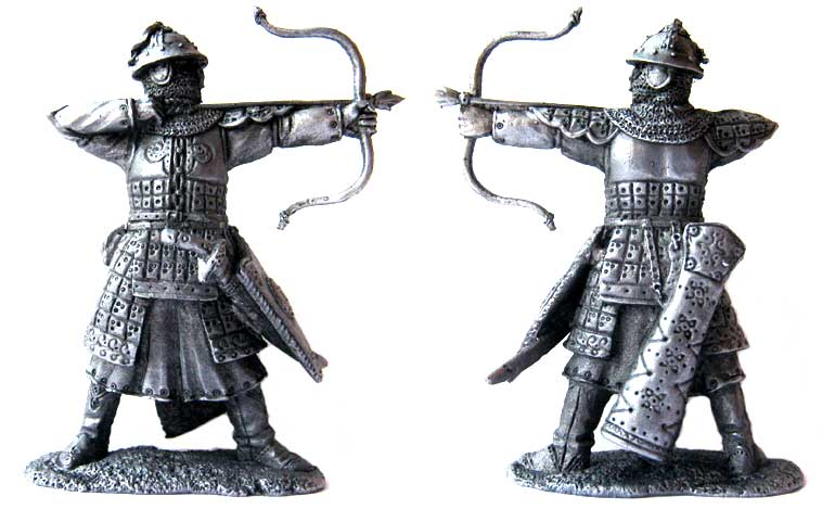 Mongolian archer, 13-14 centuries; 54 mm