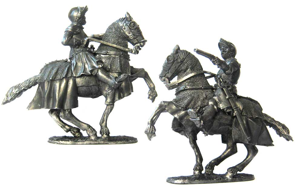 Livonian heavily armed horseman, 16th century; 54 mm
