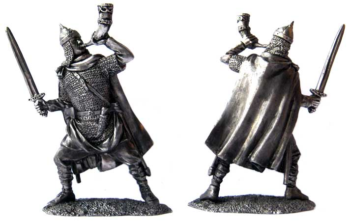 Russian noble warrior 9-10 century; 54 mm