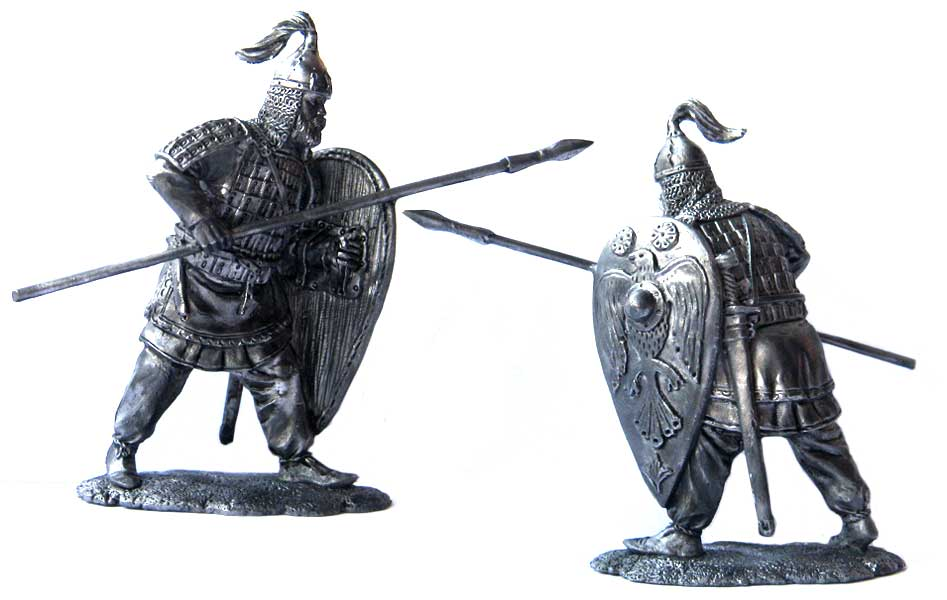 Russian warrior, 9-10 centuries; 54 mm