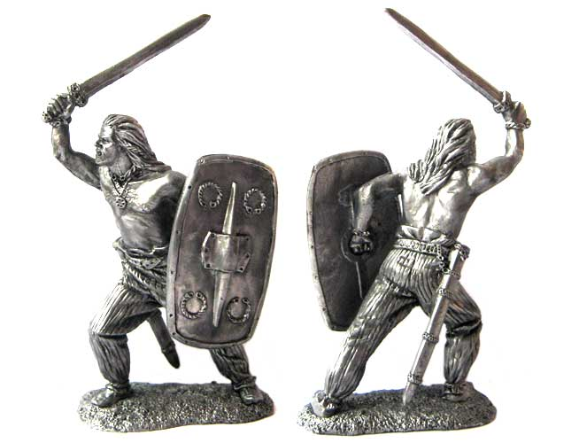 Celtic warrior, 1-2 centuries AD; 54 mm
