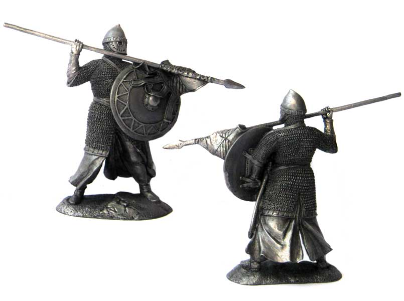 Knight Crusader, 12th century; 54 mm