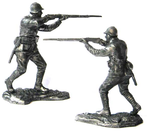 Soviet infantry soldier, 1941-43; 54 mm
