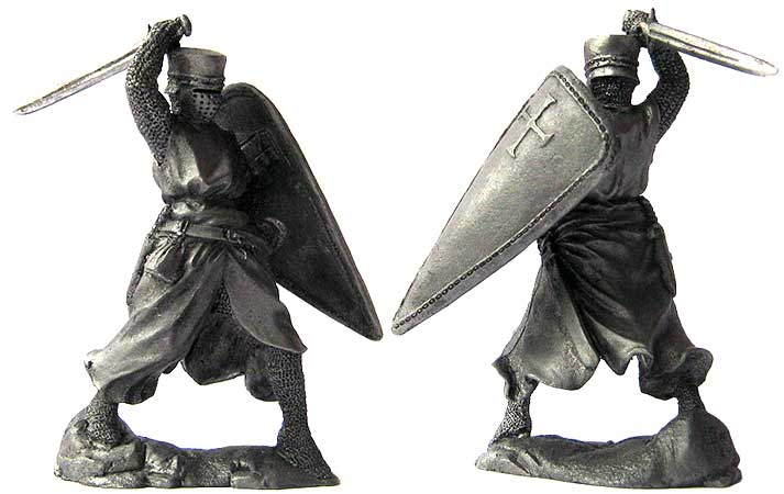 Knight Templar, 12-13 centuries; 54 mm