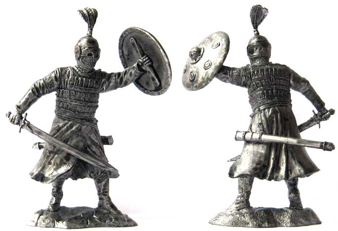 Faris (Muslim heavily armed horseman), 12-13 centuries; 54 mm