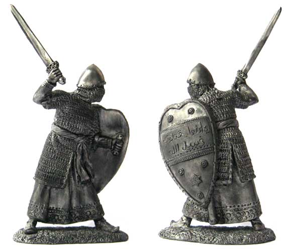 Noble Muslim warrior, 12-13 centuries; 54 mm