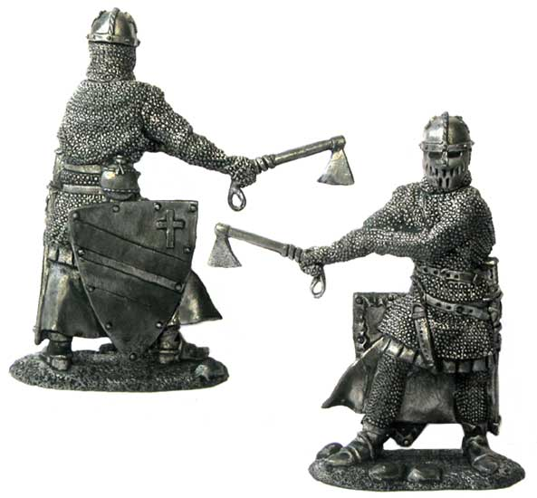 Danish knight, 13th century; 54 mm