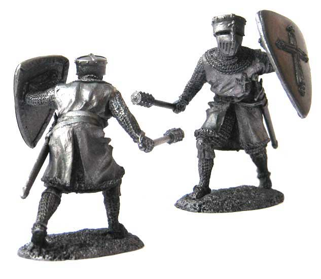 Knight Crusader, 12-13 centuries; 54 mm