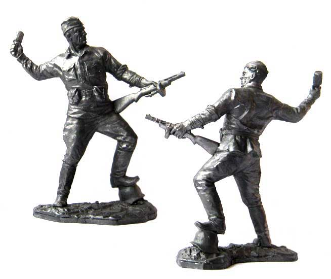 Private Soviet infantry, 1941-1943; 54 mm