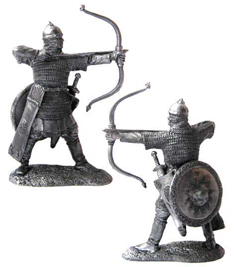 Russian archer, 13th century; 54 mm