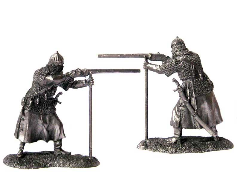 Musketeer landed troops, Russia 16-17 centuries; 54 mm