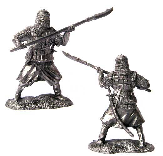 Warrior landed troops, Russia 16-17 centuries; 54 mm