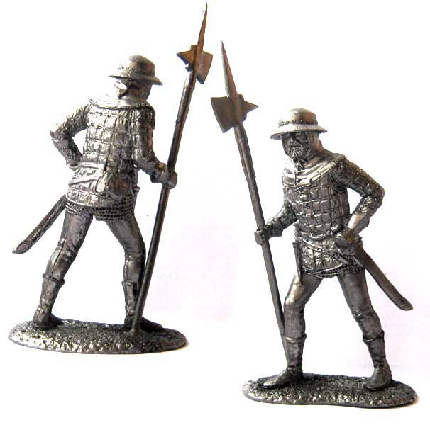 English infantry, 15th century; 54 mm