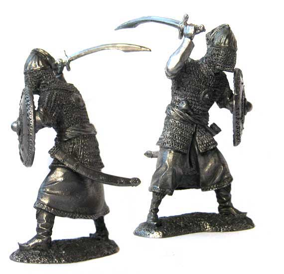 Tatar Noble warrior, 16-17 centuries; 54 mm