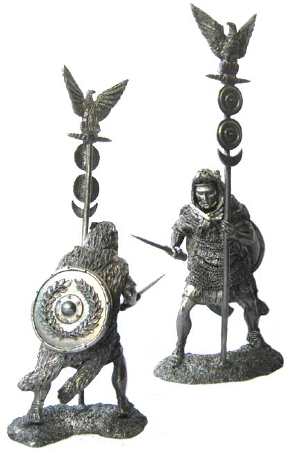 Roman aquilifer, XIX legion, 9 year AD; 54 mm