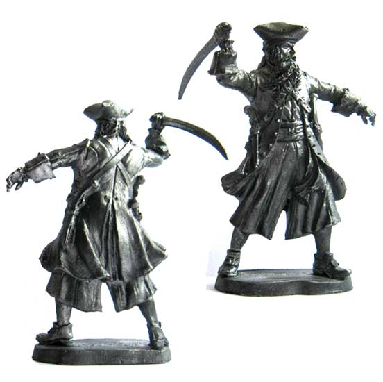 "Edward Teach ""Blackbeard"", 18th century; 54 mm"