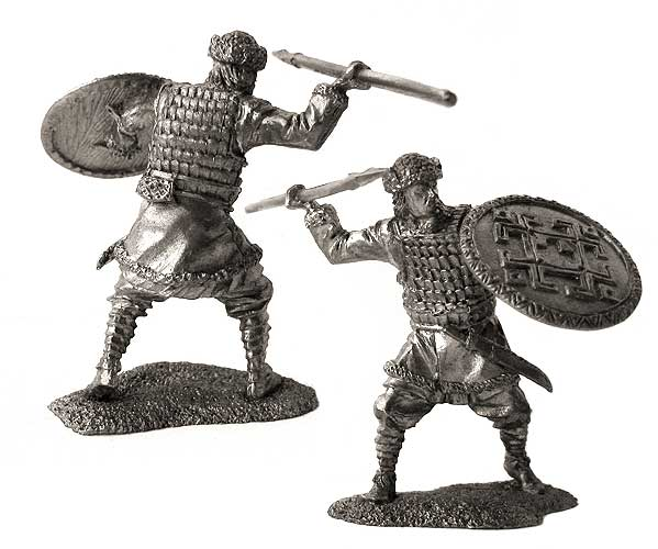 Chud (Finnic peoples) - mercenary Teutonic Knights, 13th century; 54 mm