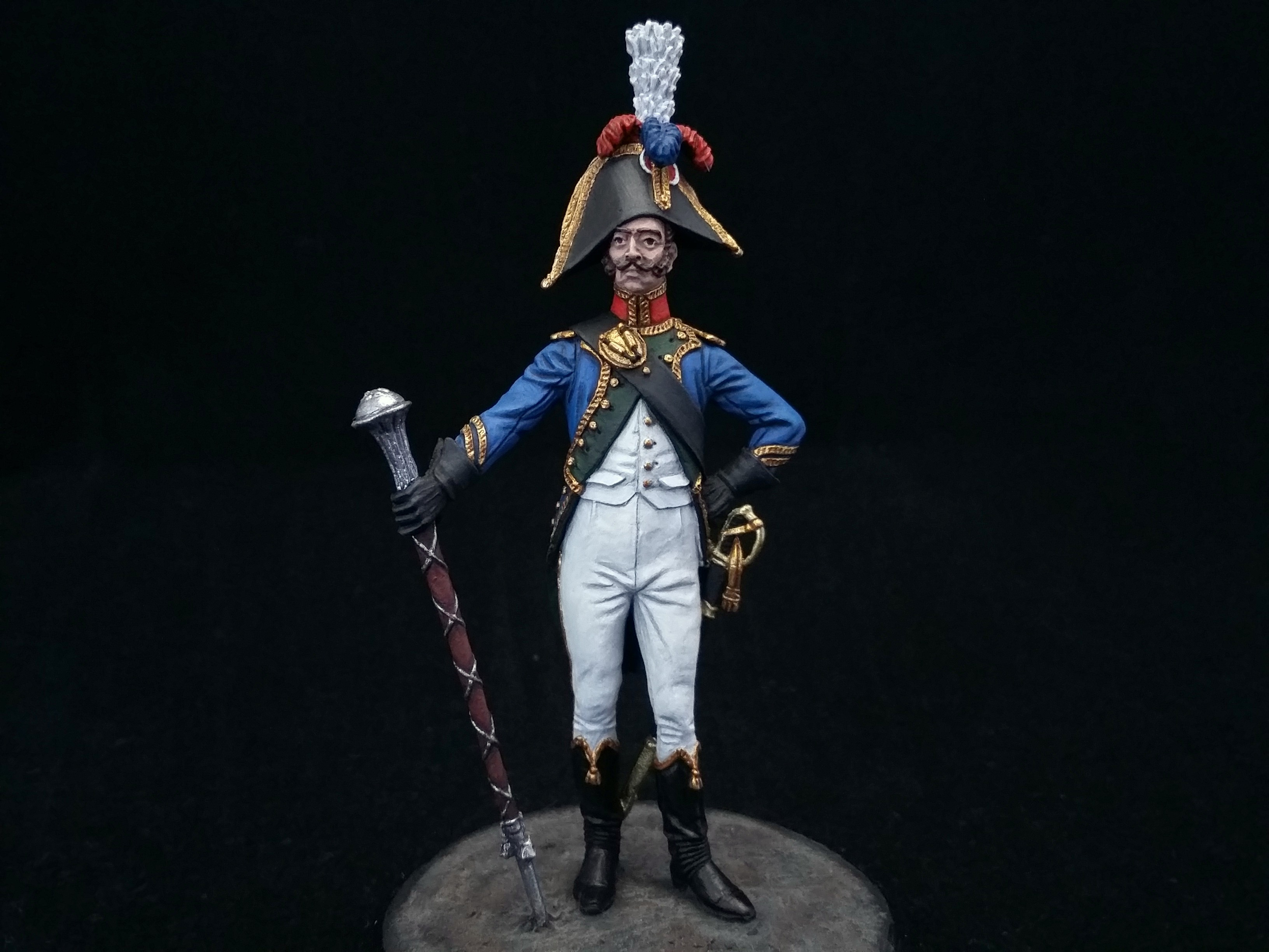 Drum-major of the 4th Regiment of the Line. France; Painted figure 54 mm