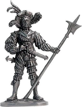 Landsknecht, 14th century; 54 mm